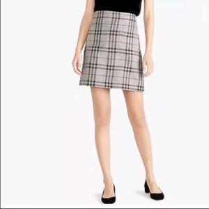 J. Crew gray plaid mini skirt